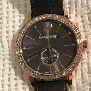 Swarovski Graceful Lady Watch - Grey Leather Strap